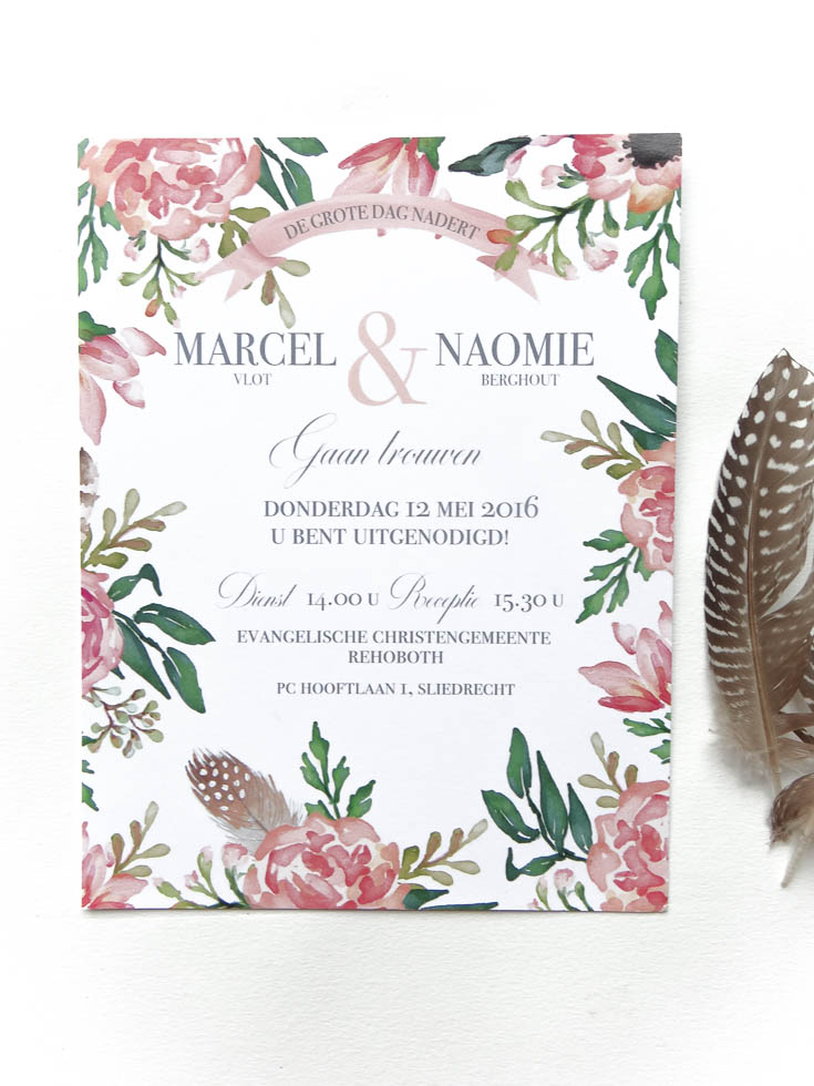 May and Fay blog- weddinginvitation with watercolor flowers (1 van 1)