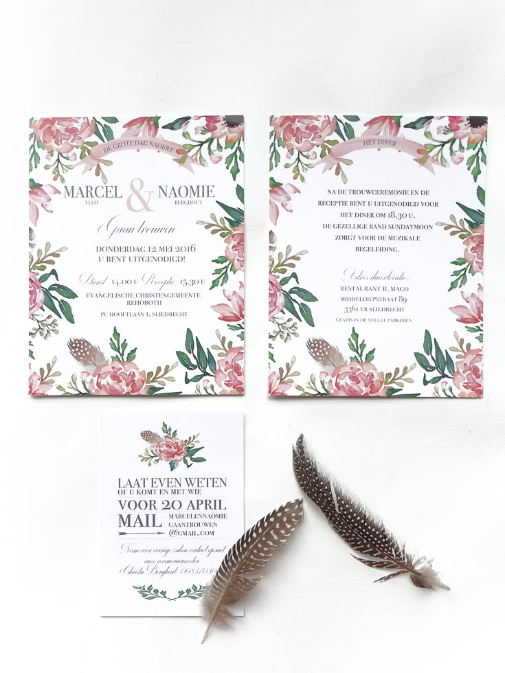 May and Fay blog- weddinginvitation with watercolor flowers 3 (1 van 1)