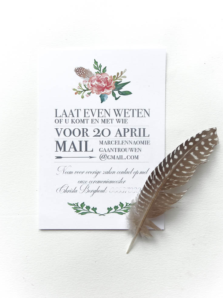 May and Fay blog- weddinginvitation with watercolor flowers 4 (1 van 1)