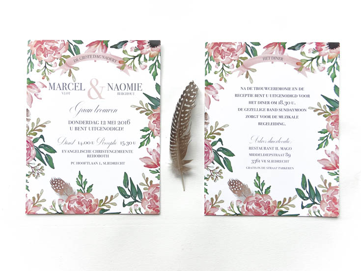 May and Fay blog- weddinginvitation with watercolor flowers 8 (1 van 1)